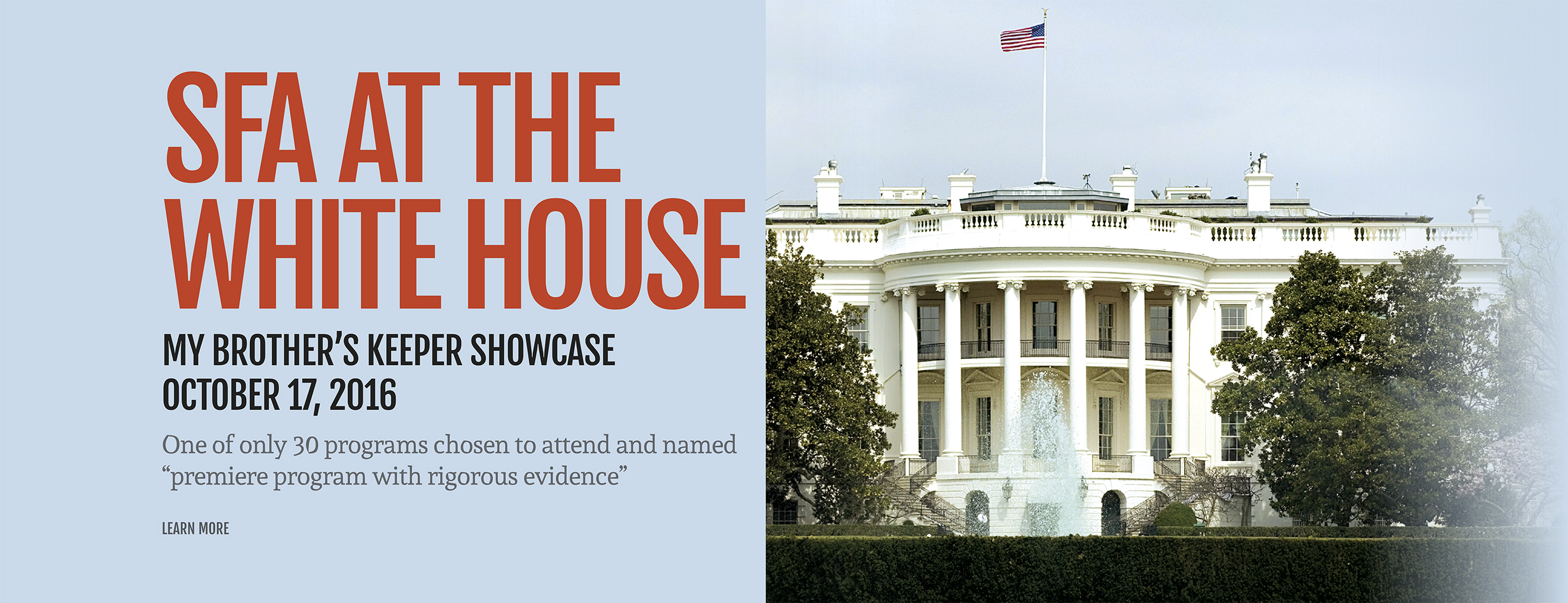 ON OCTOBER 17, 2016, SUCCESS FOR ALL WAS ONE OF THIRTY PROVEN ELEMENTARY, SECONDARY, AND ADULT LEARNING PROGRAMS INVITED TO A WHAT WORKS SHOWCASE AT THE WHITE HOUSE.